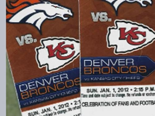Broncos, Police Warn About Counterfeit Tickets