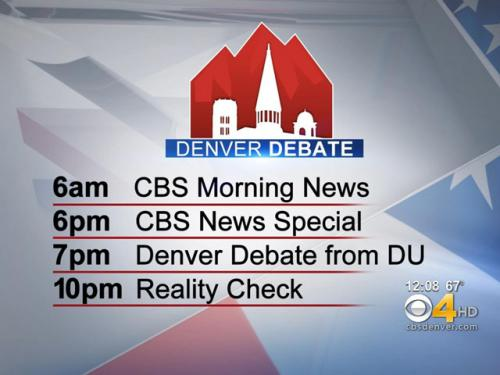 CBS4 To Feature Special Coverage Of Presidential Debate In Denver