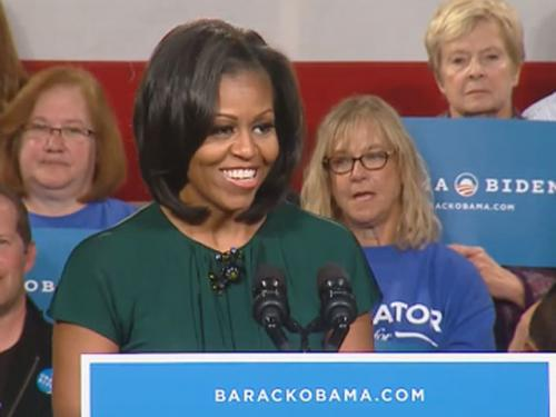 First Lady Michelle Obama Campaigns In Castle Rock