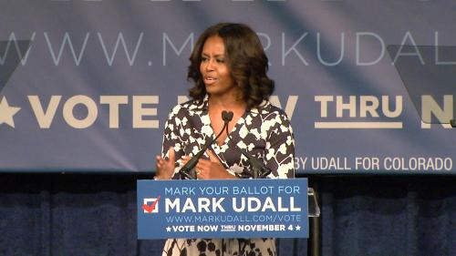 First Lady Stumps For Udall In Denver, Fort Collins