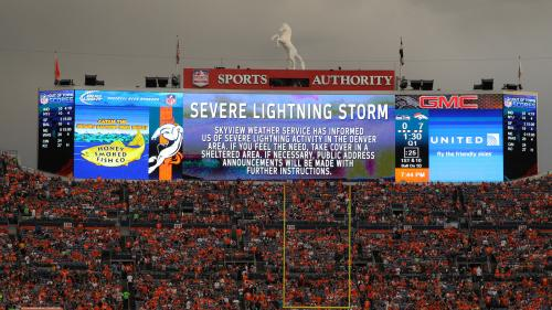 Lightning Halts Seahawks-Broncos Preseason Game