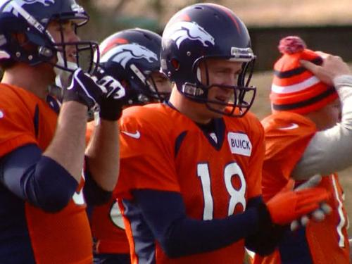 Manning Goes With Glove As The Weather Gets Frightful