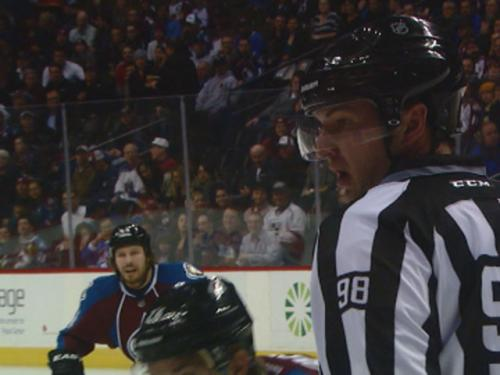 NHL Lineman Debuts On Ice At Avs Home Opener