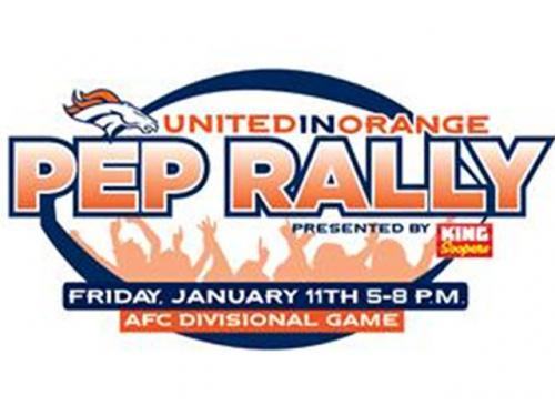 Pep Rally Gets Fans Excited Day Before Broncos Playoff Game