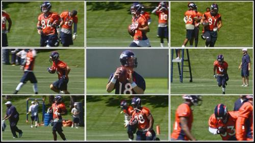 Peyton Manning Begins To Get A Feel For His Receivers